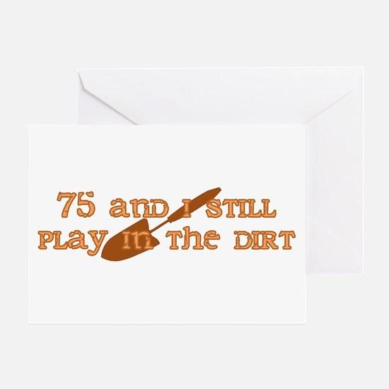 75th Birthday Gardening Greeting Card