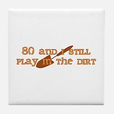 80th Birthday Gardening Tile Coaster