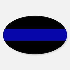Blue Line Bumper Sticker (Oval) 10-pack
