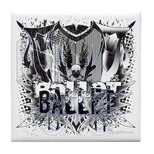 Not Your Little Sister's Ballet Shirt Tile Coaster