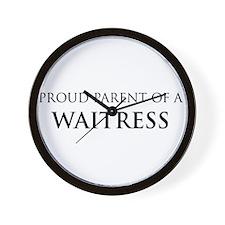 Proud Parent: Waitress Wall Clock