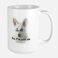 White German Shepherd Large Mug