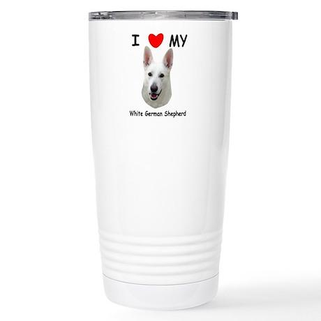 White German Shepherd Stainless Steel Travel Mug