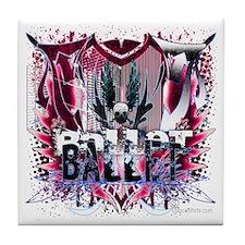 Magenta Ballet Grunge Tile Coaster