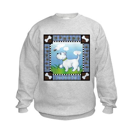 Best Westie Dad Kids Sweatshirt