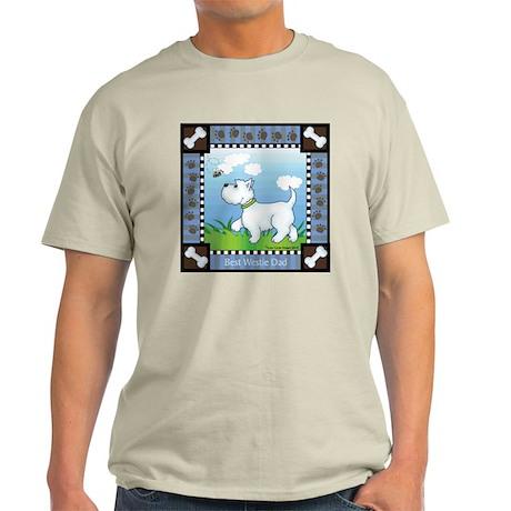 Best Westie Dad Light T-Shirt