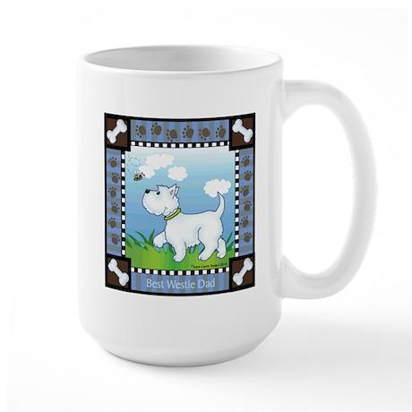 Best Westie Dad Large Mug
