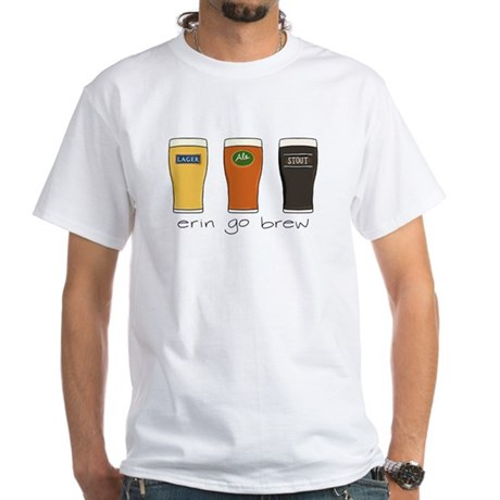 Erin Go Brew - White T-Shirt