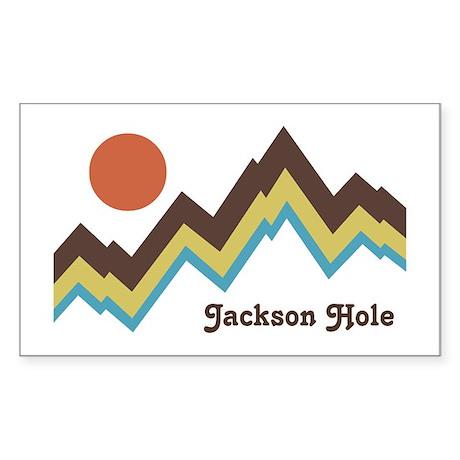 Jackson Hole Wyoming Sticker (Rectangle)