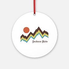 Jackson Hole Wyoming Ornament (Round)