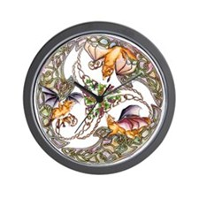 Foxes & Grapes Wall Clock