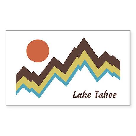 Lake Tahoe Sticker (Rectangle)