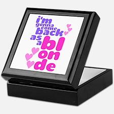 As A Blonde Keepsake Box