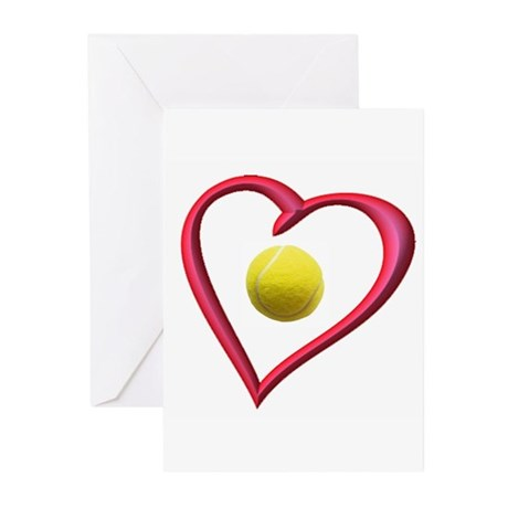 TENNIS LOVE Greeting Cards (Pk of 10)