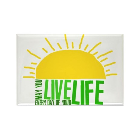 Live Everyday Rectangle Magnet (100 pack)