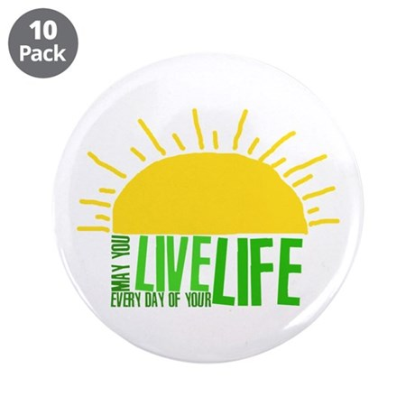 """Live Everyday 3.5"""" Button (10 pack)"""
