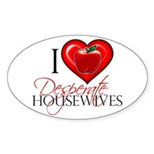 I Heart Desperate Housewives Sticker (Oval)
