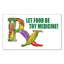 Wholefood Farmacy Logo Rectangle Decal