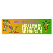 Wholefood Farmacy Logo Bumper Bumper Sticker
