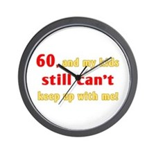 Witty 60th Birthday Wall Clock