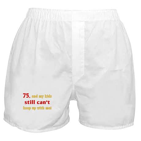 Witty 75th Birthday Boxer Shorts