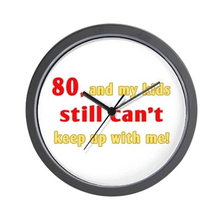 Witty 80th Birthday Wall Clock