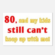 Witty 80th Birthday Postcards (Package of 8)