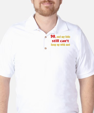 Witty 90th Birthday Golf Shirt