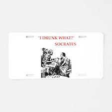 socrates Aluminum License Plate