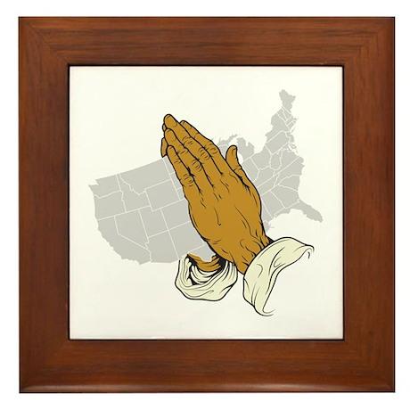 Pray For America Framed Tile