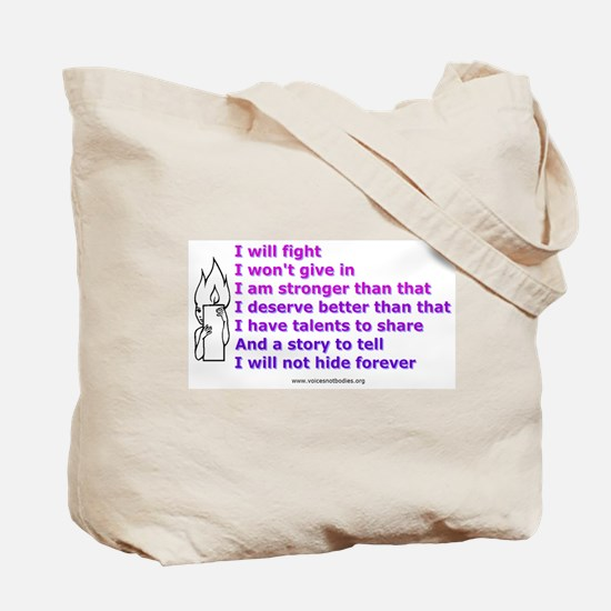 Voices - Not Bodies Tote Bag