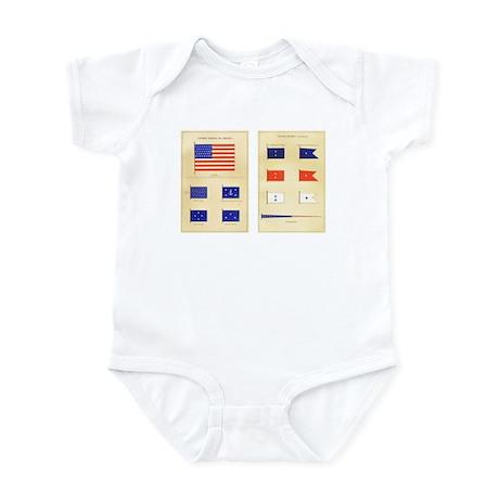 US Nautical Flags Infant Bodysuit