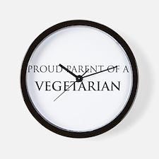 Proud Parent: Vegetarian Wall Clock