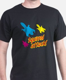 Squirrel Attack (red/yellow) T-Shirt
