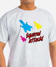 Squirrel Attack (red/black) T-Shirt