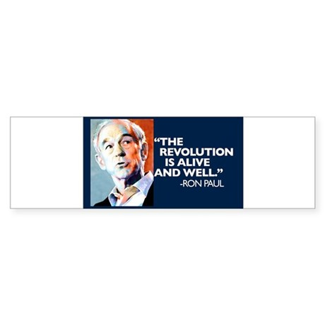 Ron Paul - The Revolution is Sticker (Bumper 10 pk