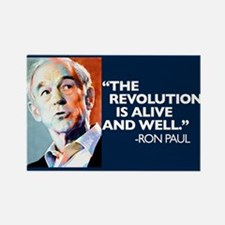 Ron Paul - The Revolution is Rectangle Magnet