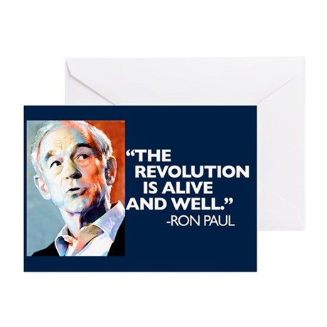 Ron Paul - The Revolution is Greeting Cards (Pk of