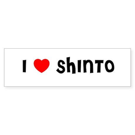 I LOVE SHINTO Bumper Sticker