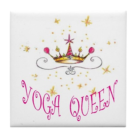 YOGA QUEEN Tile Coaster