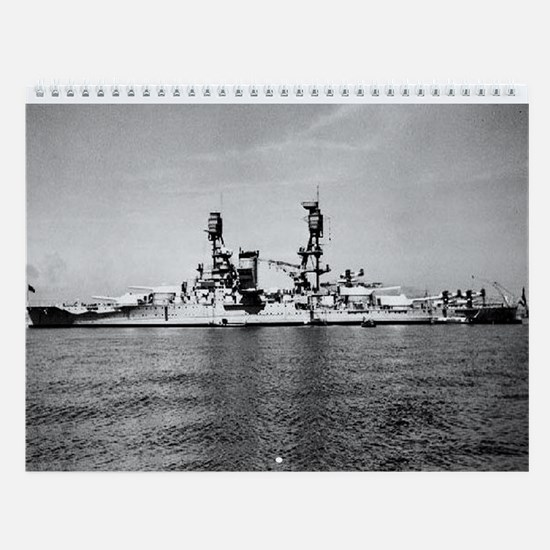 USS Nevada Ship's Image Wall Calendar