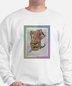 Sweatshirt with Airedale map
