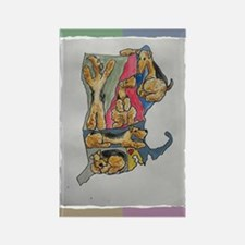 Rectangle Magnet (10 pack) Airedale map