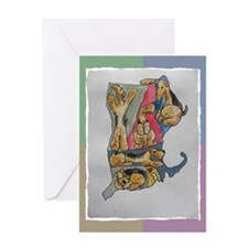 Greeting Card with Airedale map