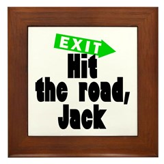 Hit the road, Jack Framed Tile
