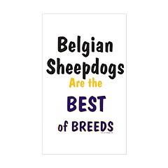 Belgian Sheepdog Best Breeds Rectangle Decal
