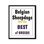 Belgian Sheepdog Best Breeds Framed Panel Print