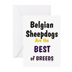 Belgian Sheepdog Best Breeds Greeting Cards (Packa