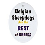 Belgian Sheepdog Best Breeds Oval Ornament