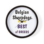 Belgian Sheepdog Best Breeds Wall Clock